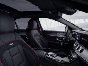 cuir Nappa AMG noir avec surpicures rouges